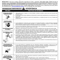 Safe Use Guide - Carbon Electrodes (Spanish)