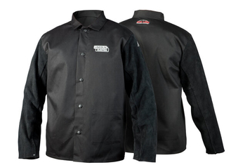 Traditional Split Leather Sleeved FR Cloth Welding Jacket