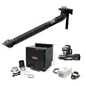 Prism Single Arm Wall Mount with Mechanized Cleaning with MERV 16 Filter, w Telescopic 7 Ft.; with Arc Sensor Lamp Kit 2400 1 HP Fan One-Pak