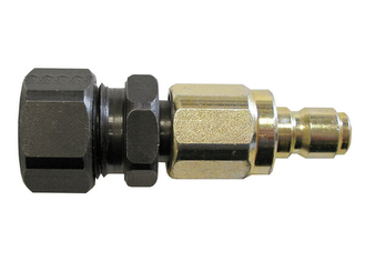 Compression-style Quick Connector for weld wire dispensing system