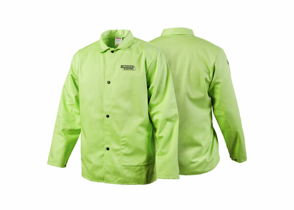 Traditional FR Cloth Welding Jacket - Safety Lime