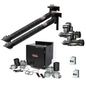 Prism Dual Arm Wall Mount with Mechanized Cleaning, MERV 16 Filter, SF2400 1 HP Fan; Telescopic 7 FT.