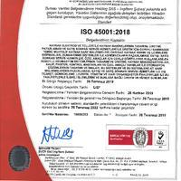 ISO45001 Kaynak Teknigi Sanayii Ve Ticaret A.S.