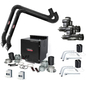 Prism Dual Arm Wall Mount with Mechanized Cleaning, MERV 16 Filter, SF2400 1 HP Fan;  13 FT. Arc Sensor Lamp Kit One-Pak