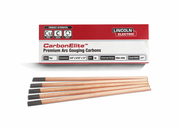CarbonElite Flat Gouging Electrodes - 5/8 in. x 3/16 in. x 12 in.