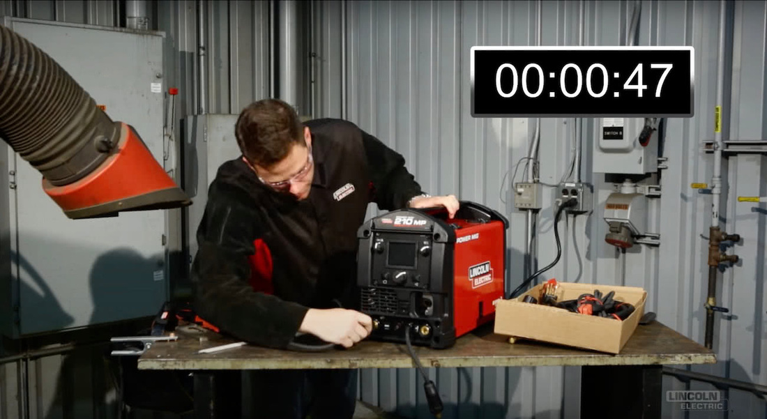 Learn How to Set Up a POWER MIG® 210 MP® in Under TWO Minutes!