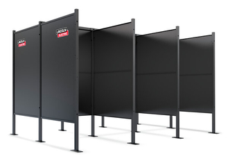 4x4 3-Booth Welding Booth