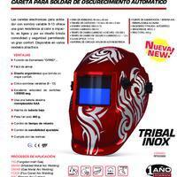 Careta para Soldar Tribal Inox - Info. del Producto