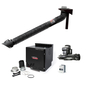 Prism Single Arm Wall Mount with Mechanized Cleaning with MERV 16 Filter, w Telescopic 7 Ft. 2400 1 HP Fan One Pak