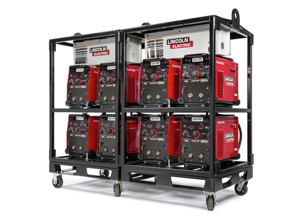 Flextec 350X Construction Multi-Process Welders (4-Pack Rack-B)
